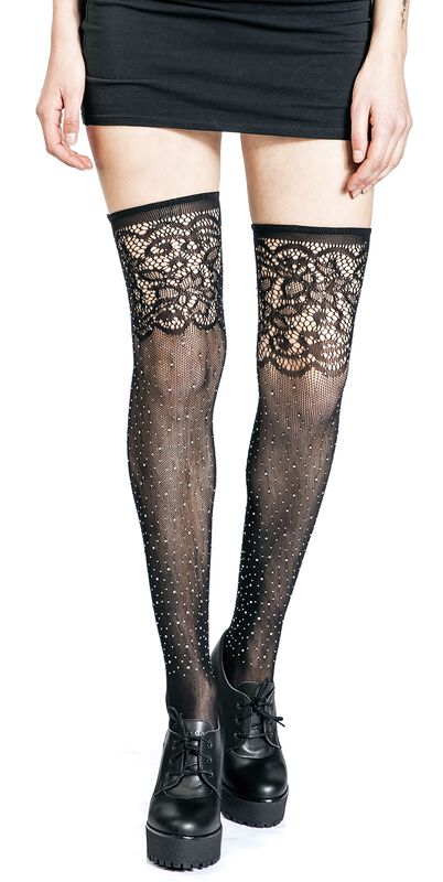 Diamante Cut Out Stocking