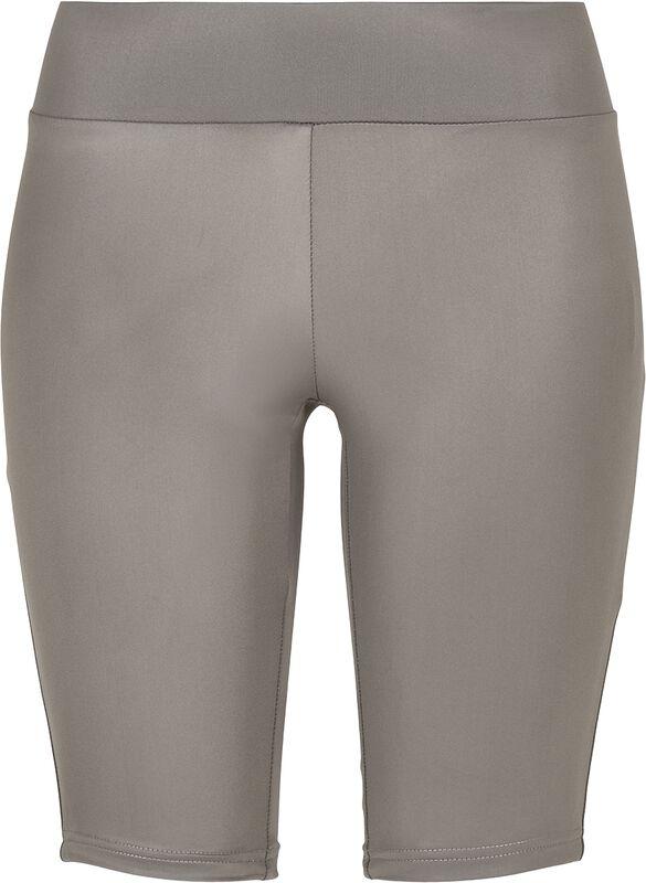Ladies Imitation-Leather Cycle Shorts