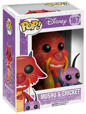 Figura Vinilo Mushu y Cricket 167
