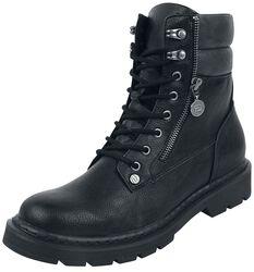 Botas negras con cremallera
