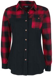 Hemd mit schwarz- rotem Karomuster
