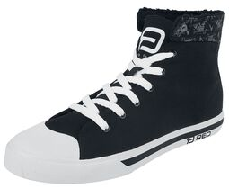 Zapatillas de interior negro con estampados
