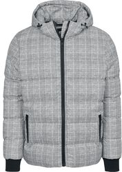 Hooded Check Puffer