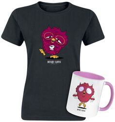 Camiseta + Taza Before & After Coffee