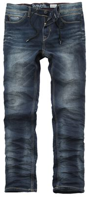 5-Pocket Sweat Denim-Look Trousers