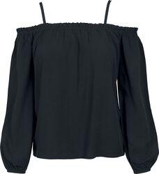 Camiseta sin hombros de manga larga
