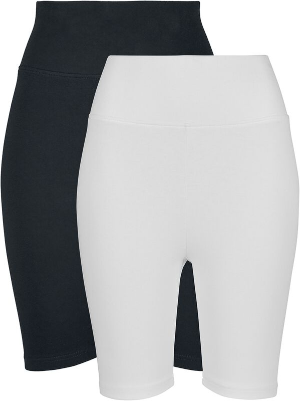 Ladies Hight Waist Cycle Shorts Double Pack