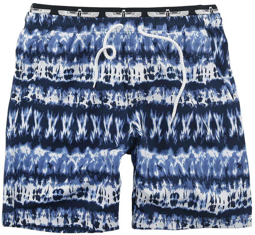 Bañador batik azul/blanco