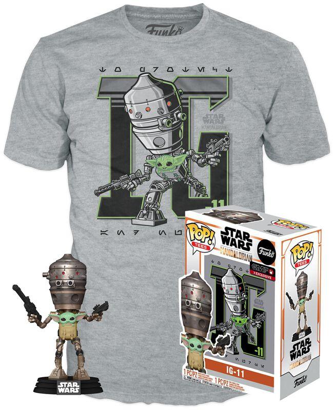 The Mandalorian - IG-11 with the Child - POP! & Camiseta