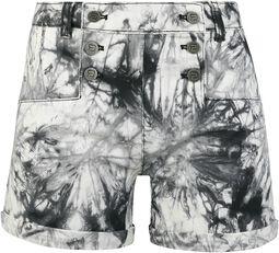 Black/White Shorts with Wash