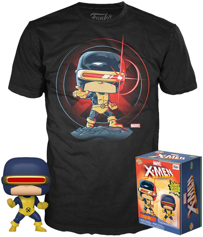 80th - First Appearance - Cyclops - POP! & Camiseta