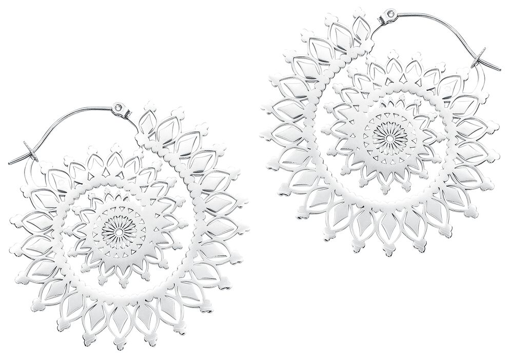 Silver Floral Nautilus