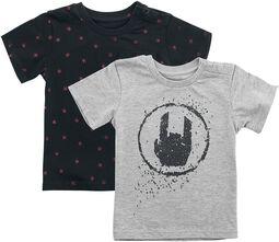 Doble pack camisetas negro/gris