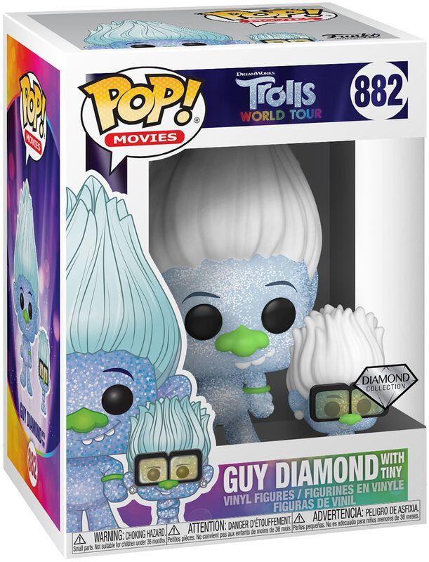 Figura Vinilo World Tour - Guy Diamond with Tiny (Glitter) 882