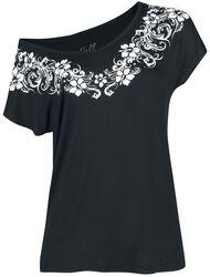 T- Shirt mit auffälligem Blumen Print