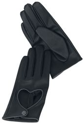 Black Premium Gloves with Heart Cut-Outs