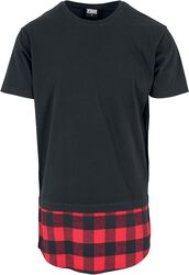 Long Shaped Flannel-Bottom Tee