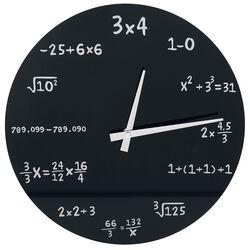 Reloj de pared de cristal - Matemáticas