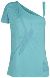 Turquoise T-shirt with Print