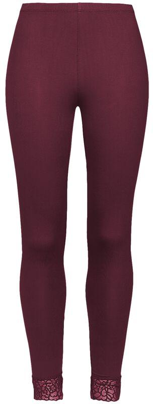 Leggings rojos con encaje de Black Premium