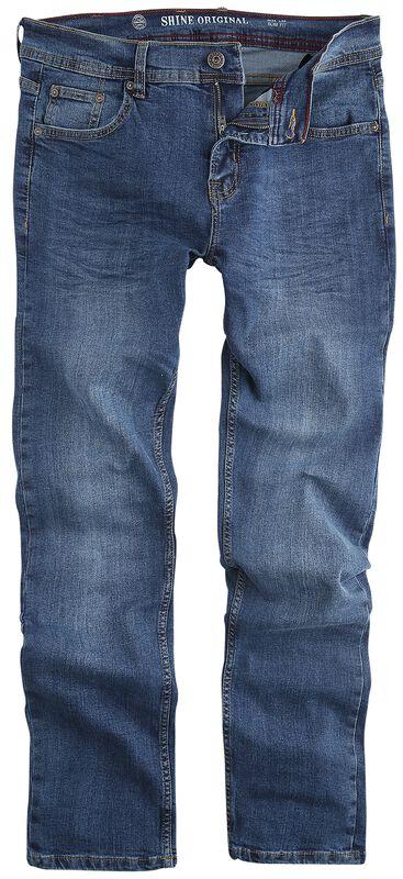 Slim Fit Jeans Spray Blue