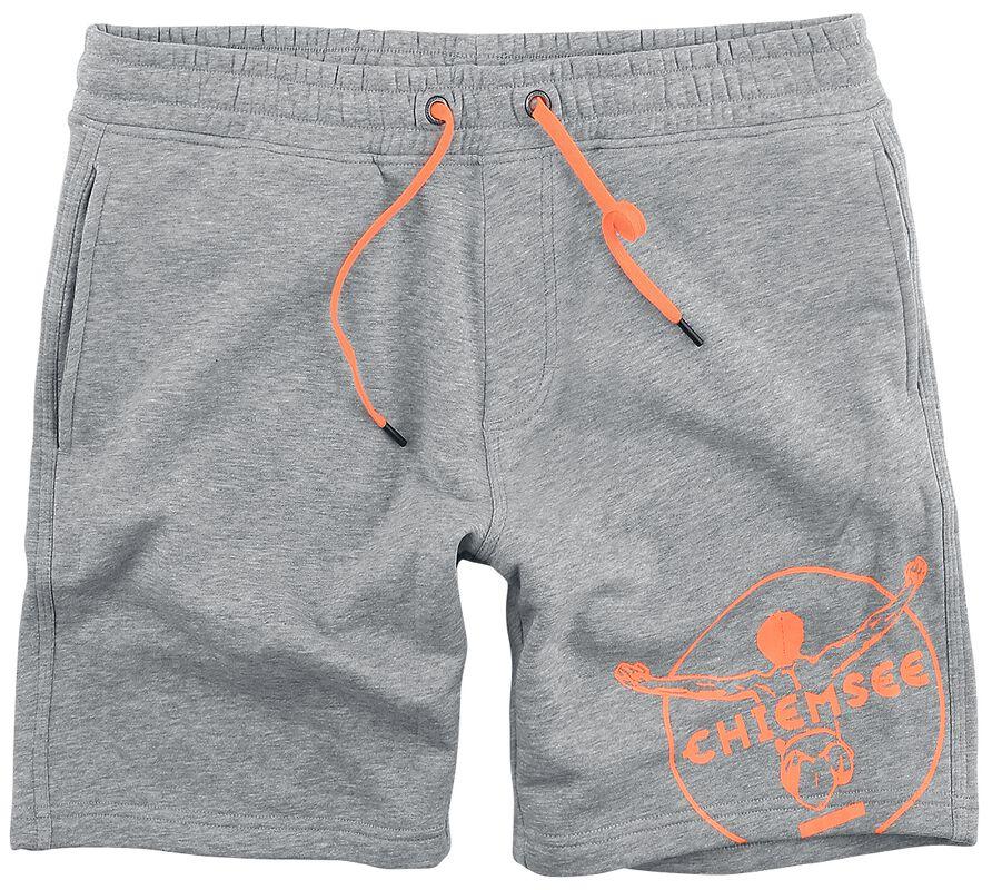RED X CHIEMSEE - Pantalón corto felpa Gris/Naranja
