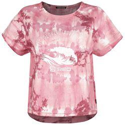RED X CHIEMSEE - Camiseta batik blanca-roja