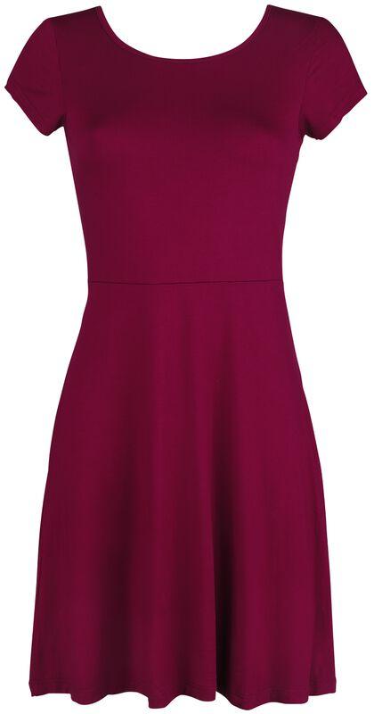 Vestido rojo con corte trasero y cordón decorativo