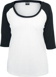 Camiseta 3/4 Chicas Contrast Raglan