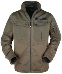 Brown jacket with large front pockets