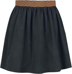 Amplia falda con borde de nudo celta