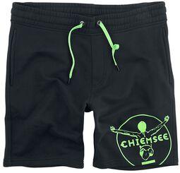 RED X CHIEMSEE -  schwarz/grüne Sweatshorts