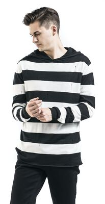 Knitted Striped Hoodie
