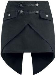 Falda negra con cola