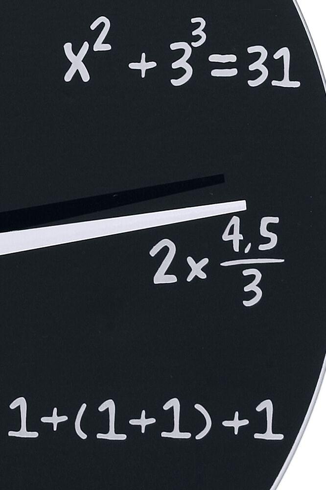 14d7143ed6a1 Reloj de pared de cristal - Matemáticas Reloj de Pared