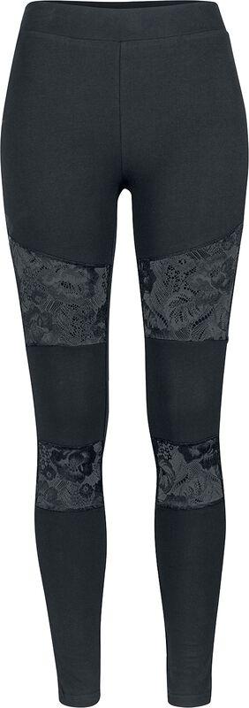 Ladies Lace Insert Leggings
