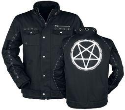 Black Winter Jacket with Eyelets