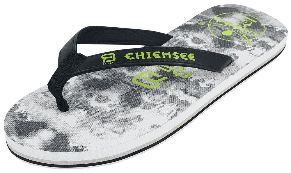 RED X CHIEMSEE - Chanclas blanco/negro con Logo