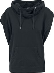 Ladies Sleeveless Terry High Neck Hoodie
