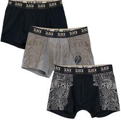 Boxers negro/gris con estampados celtas