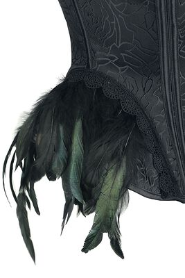 Gothic Corset with Feathers