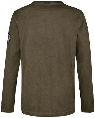 Camisa de manga larga con estampado delantero