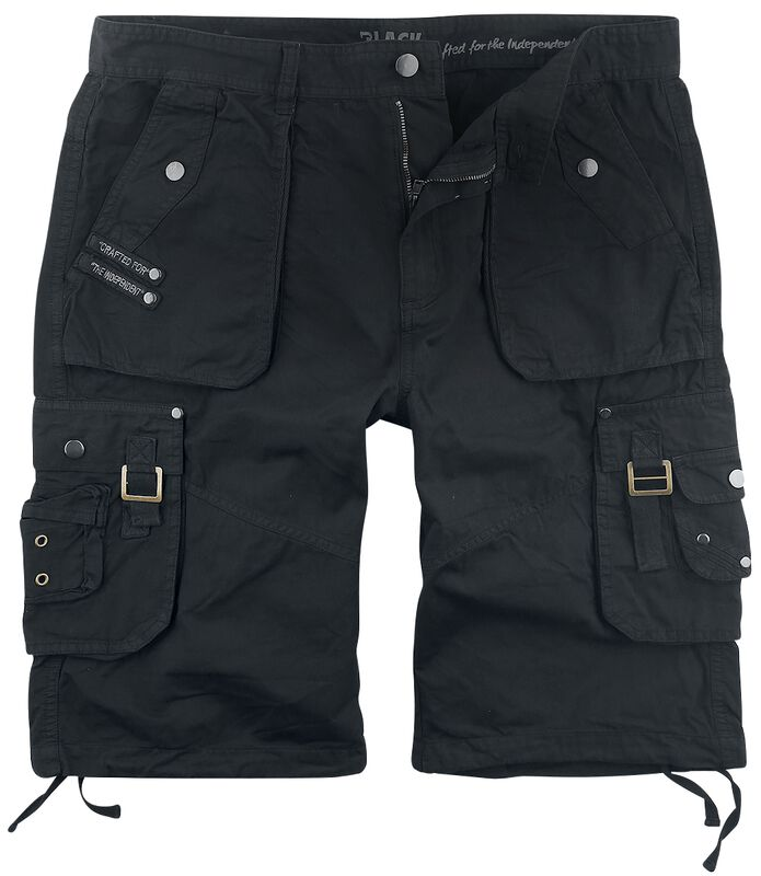 Black Army Shorts with Practical Pockets