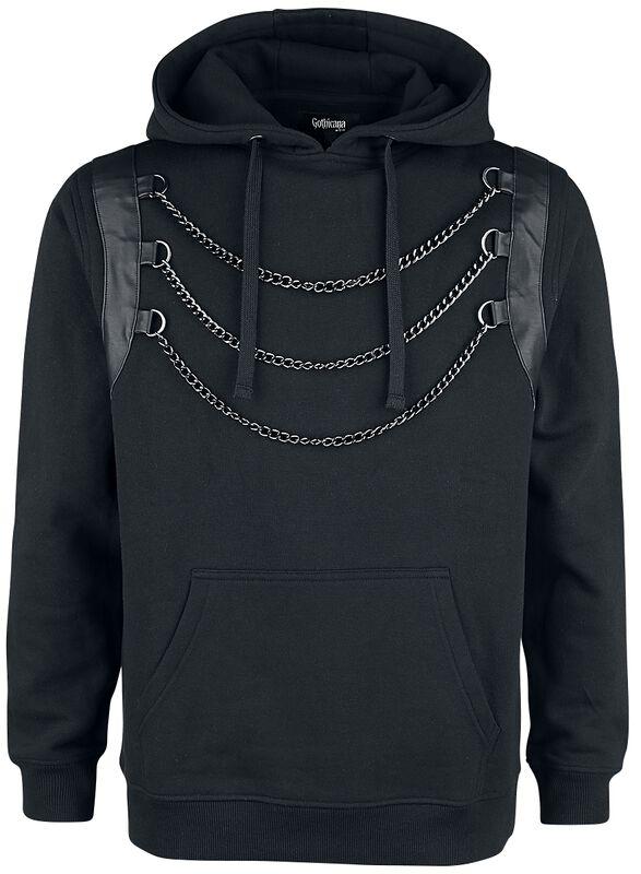 Capucha negra con cadena