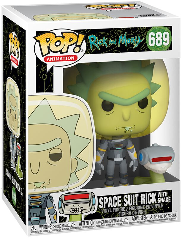 Figura vinilo Season 4 - Space Suit Rick With Snake 689