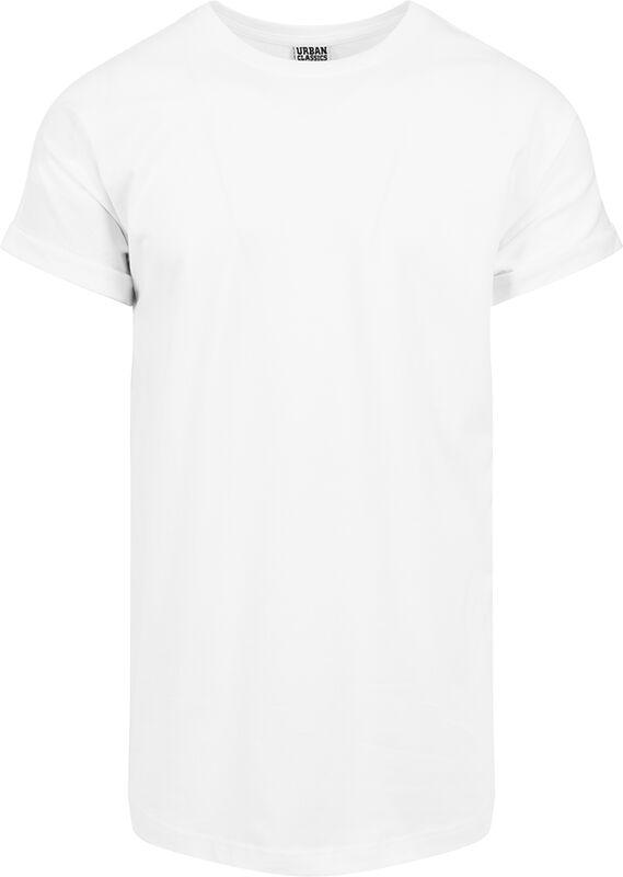 Camiseta larga de manga vuelta