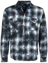 Camisa manga larga a cuadros lavada