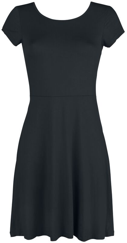 Black Dress with Back Cut-out and Decorative Lacing