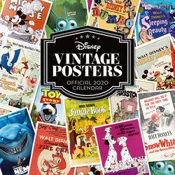 Calendario pared 2020 - Vintage Posters