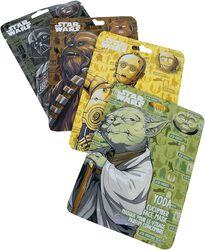 Chewbacca, Yoda, C3PO and Darth Vader